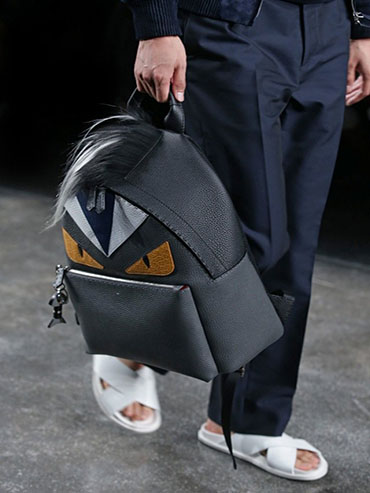 Fendi-Black-Monster-Backpack-Bag-Mens-SpringSummer-2015
